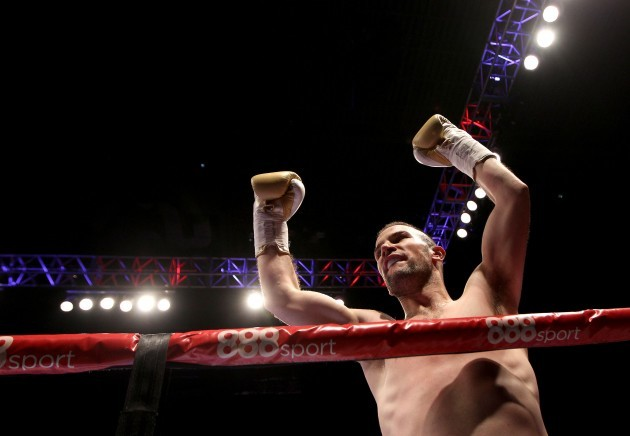 John Joe Nevin celebrates after a first round knockout