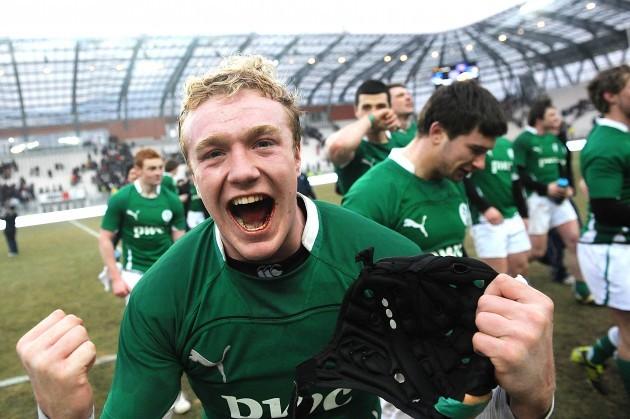 Conor Gilsenan celebrates