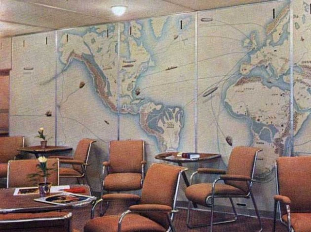 the-wall-of-the-lounge-was-covered-with-a-large-mural-depicting-the-routes-taken-by-famous-explorers-ocean-liners-and-other-zeppelins