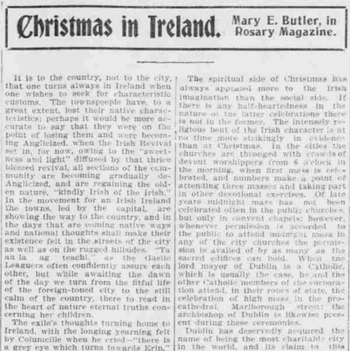 christmas ireland 1901