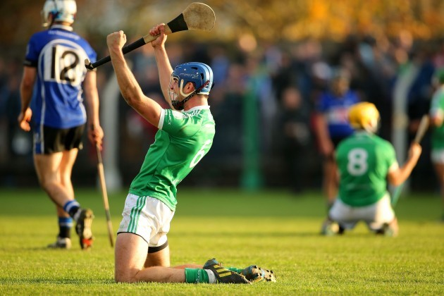 Philip O'Loughlin celebrates after the final whistle