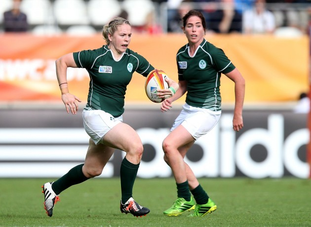 Niamh Briggs supported by Nora Stapleton