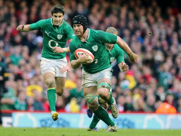Sean O'Brien in action against Wales
