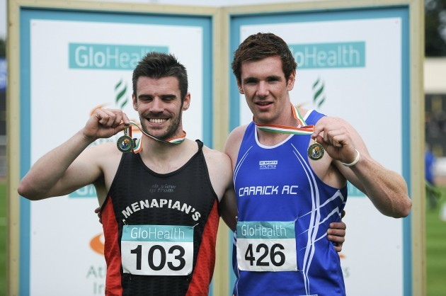 Joint winners David Hynes and Eanna Madden with their gold medals