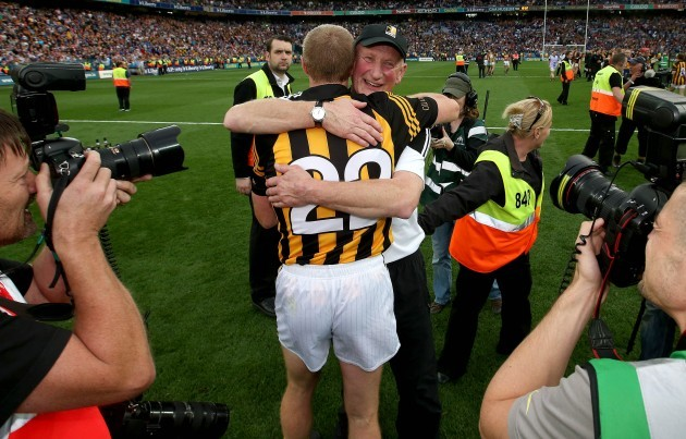 Brian Cody and Henry Shefflin celebrates after the game