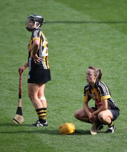 A dejected Sarah Ann Quinlan and Lydia Fitzpatrick 14/9/2014