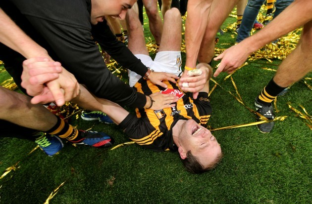 JJ Delaney pulls up with cramp ahead of the celebrations