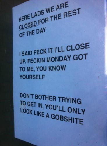 Brilliant! Monday got to someone today.. Spotted