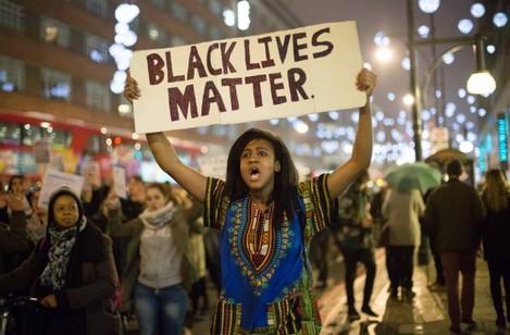 Ferguson shooting protest - London