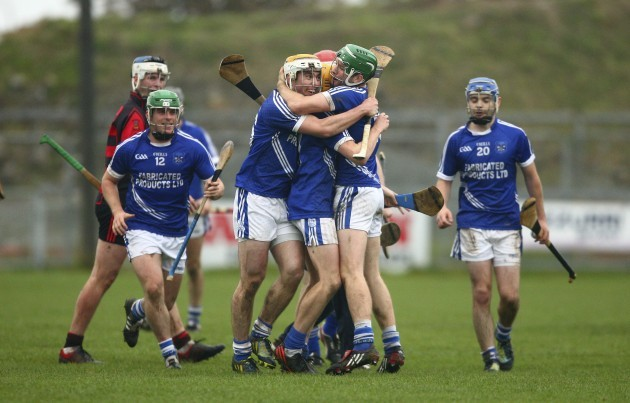 Cratloe players celebrate at full time