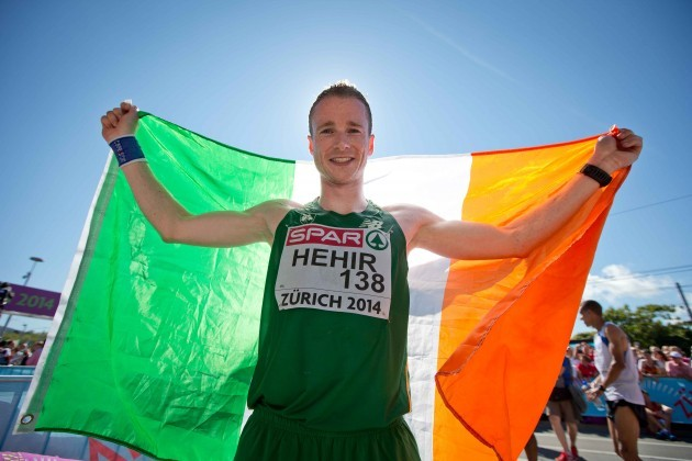 Ireland's Sean Hehir after finishing 20th in the Men's Marathon