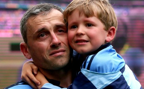 Alan Brogan with his son Jamie after the game