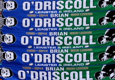 General view of Brian O'Driscoll scarfs