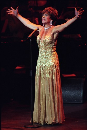 SHIRLEY BASSEY IN CONCERT AT THE ROYAL FESTIVAL HALL IN LONDON
