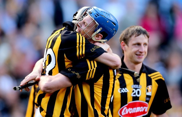Aidan Fogarty and Brian Hogan celebrate after the game
