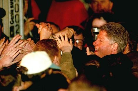 Clinton Sea of hands