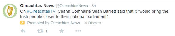 Oireachtas Promoted Tweet