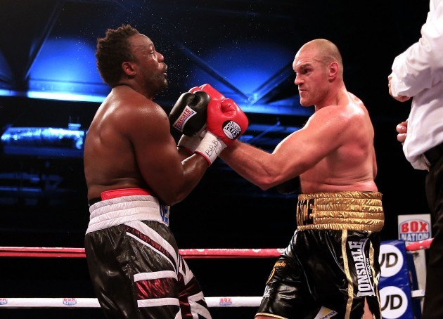 Boxing - BBBofC and EBU Heavyweight Title - Dereck Chisora v Tyson Fury - ExCel Arena