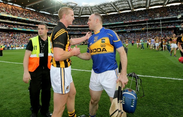 Henry Shefflin with Eoin Kelly after the game