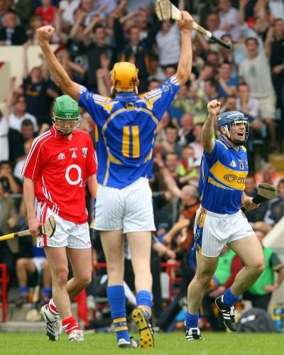 Eoin Kelly celebrates scoring a point