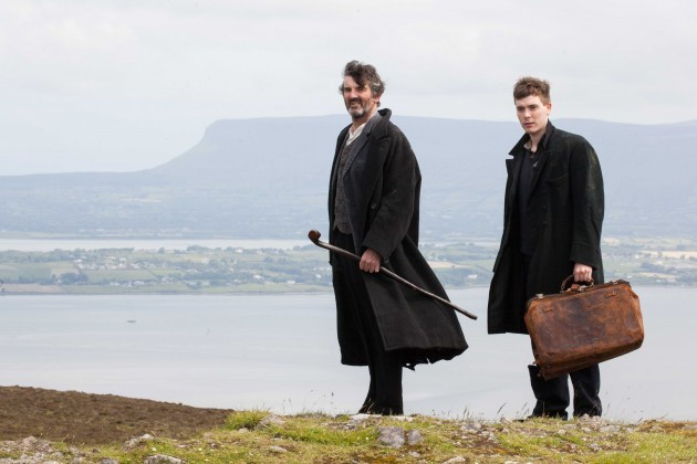(L-R) Ciaran McCauley and Kiefer Short in Blue Raincoat producti