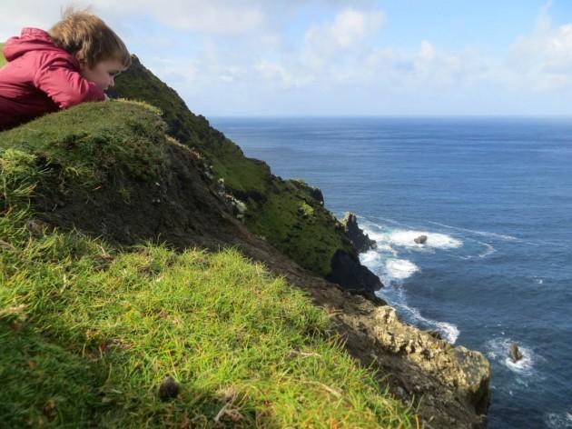 Photo 3 - Sam at the Cliffs - Winner Junior Category