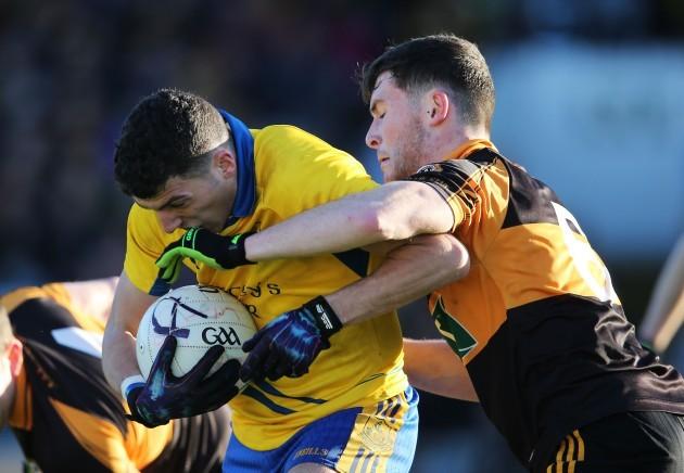 Conor Jordan tackles Shane Ryan