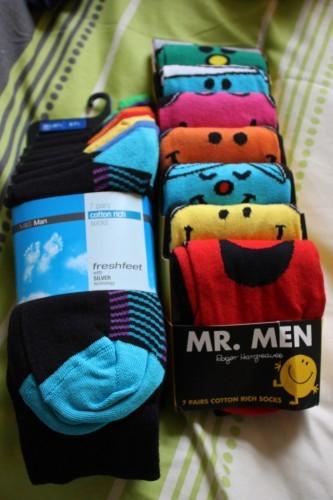 14 pairs of socks