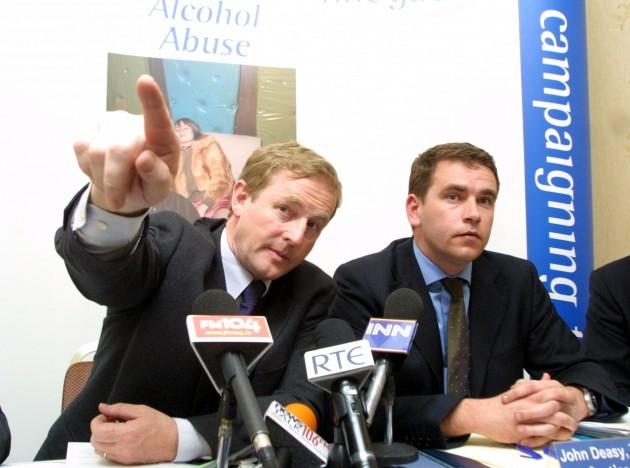 JOHN DEASY FINE GAELS ALCOHOL ABUSE PLAN