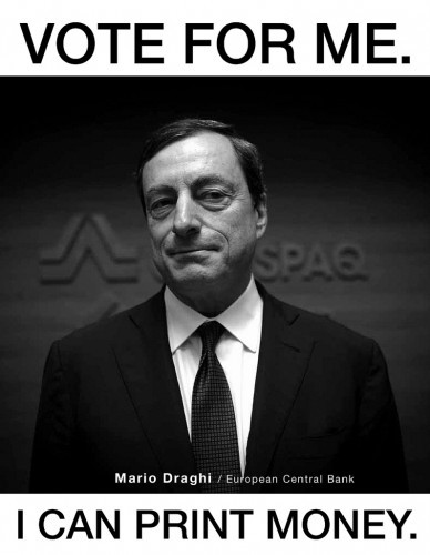 Printer Mario Draghi