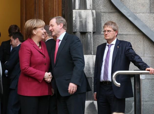 Angela Merkel Visits Ireland