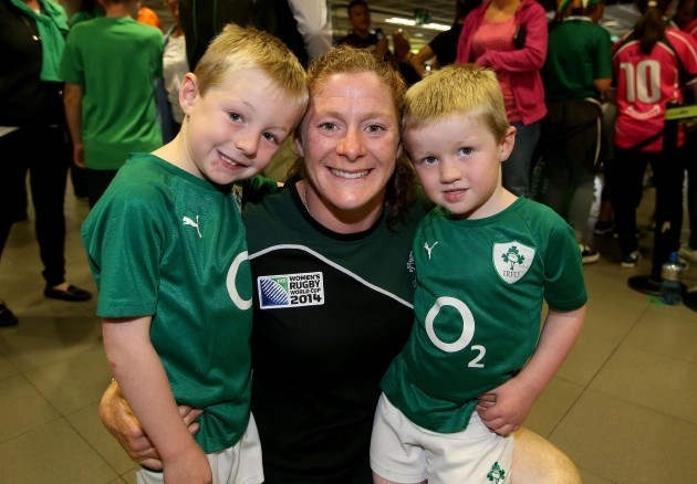 Grace Davitt with her nephews Cian O'Brien and Adam O'Brien