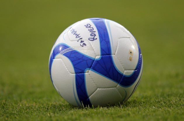 A view of a football