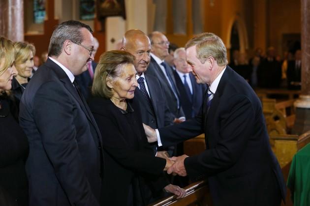 23-08-2014 The coffin of former Taoiseach Albert R