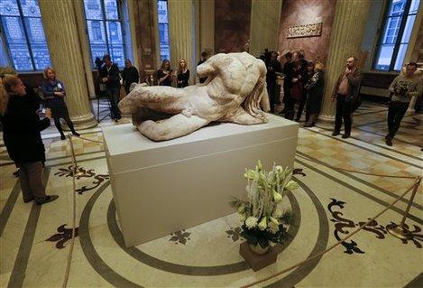 APTOPIX Russia Contested Sculptures