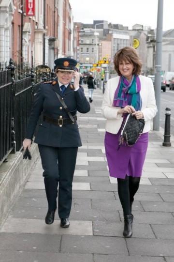 Joan Burton and Garda Commissioner, Nóirín O'Sullivan announce 20 Gardaí to work with the Dept of Social Protection_001