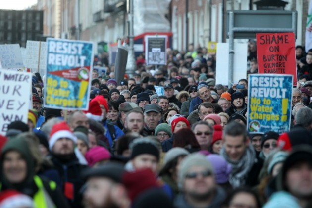 Anti Water Charges Protests. Huge crowd
