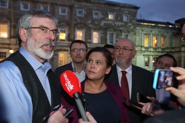 Sinn Fein. Pictured Sinn Fein Presiden