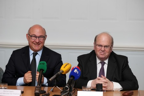 French Minister Michel Sapin in Ireland