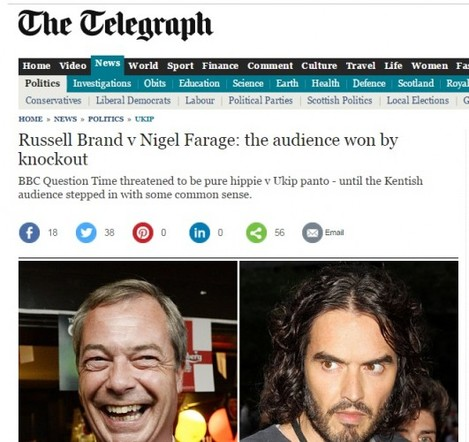 telegraph farage brand