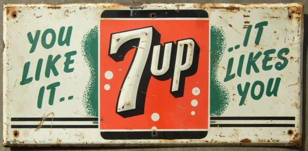 7UP SIGN 1957
