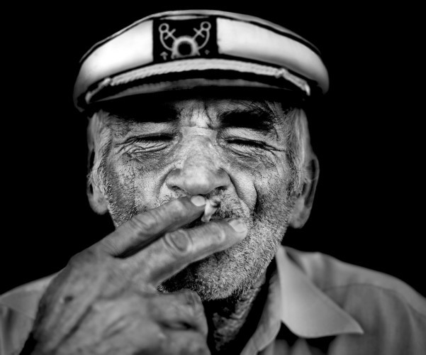 Old greek drunk and smoky captain!