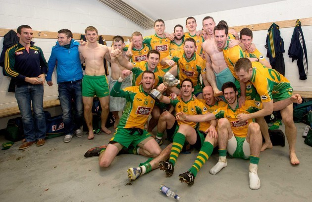 The Corofin team celebrate after the game