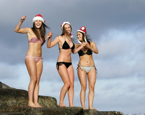 Christmas Swims at Forty Foot