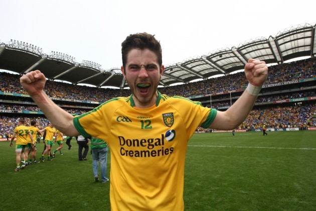 Ryan McHugh celebrates at the end of the game
