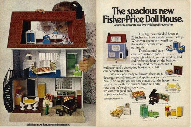 Vintage Ad #1,539: The Spacious New Fisher-Price Doll House