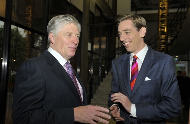 Pat Kenny with Ryan Tubridy at RTE for the 50th an