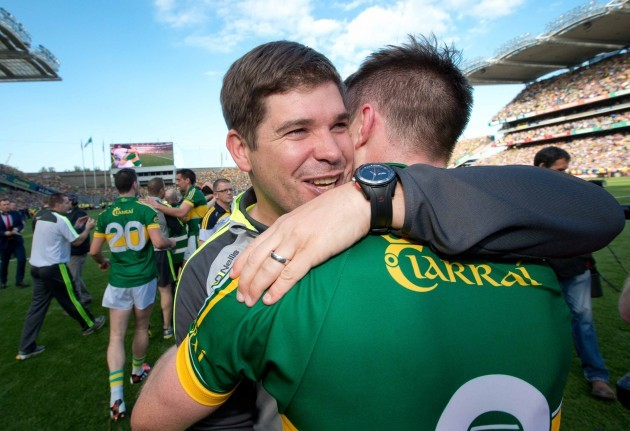 Eamonn Fitzmaurice celebrates with Marc O'Se