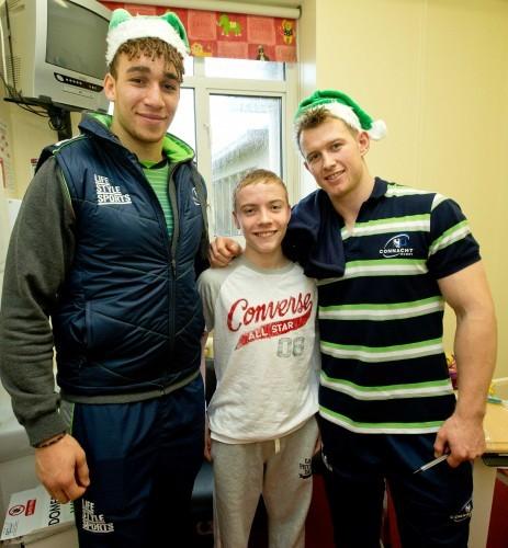 Ultan Dillane and Matt Healy with Oisin O'Donnell