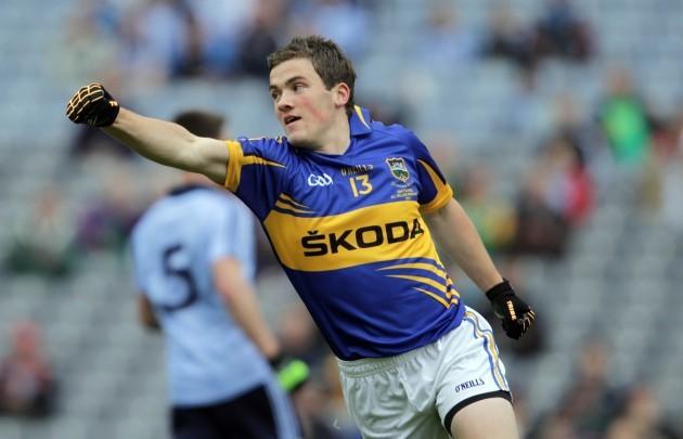 Liam McGrath celebrates scoring
